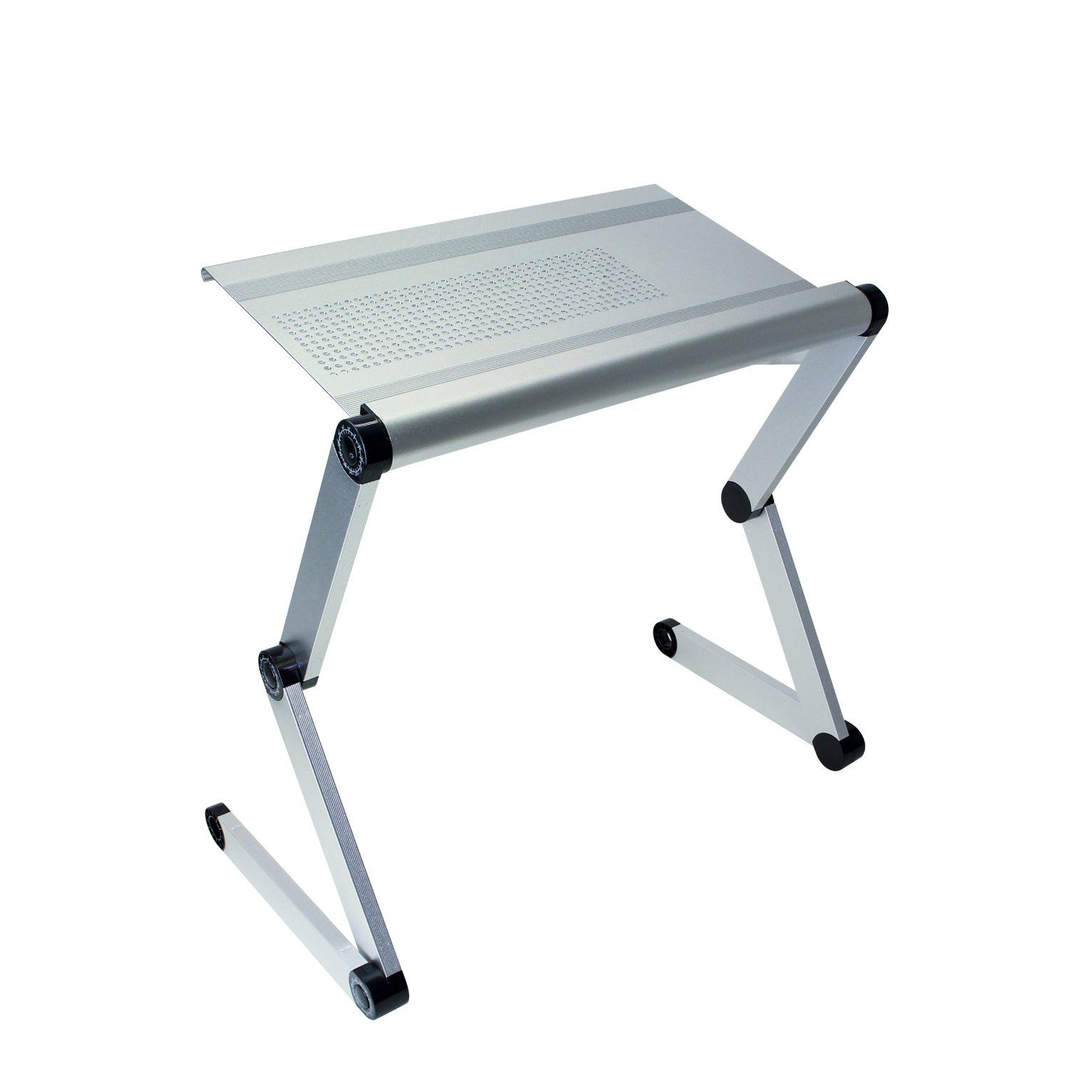 2 silver aluminum folding table ipad tablet stands 19 for Pc bed table