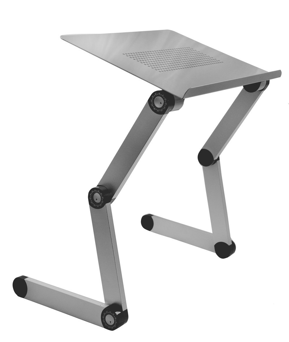1 silver aluminum folding table ipad tablet stand 17 for Pc bed table